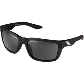 100% Daze Smoke Glasses soft tact black
